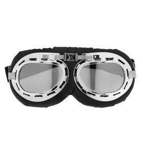 Glasses for riding motorcycles retro Torso, glass chrome, black