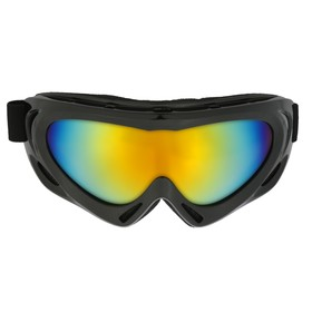 Glasses for riding motorcycles on the Torso, with extra ventilation, chameleon glass, black