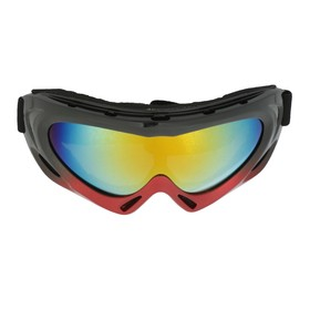Glasses for riding motorcycles on the Torso, with extra ventilation, chameleon glass, black and red