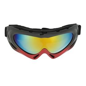 Очки для езды на мототехнике Torso, с доп. вентиляцией, стекло хамелеон, черно-красные