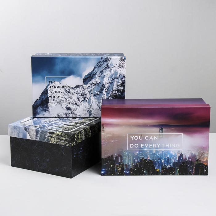 Набор подарочных коробок 3 в 1 «Природа», 24.5 × 14.5 × 8 - 29.5 × 19.5 × 10 см