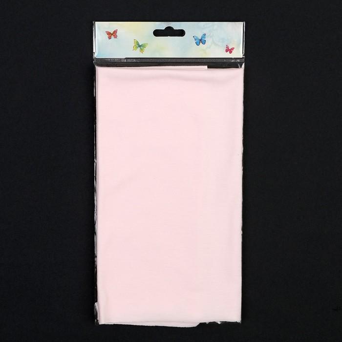 """Ткань """"Кулирная гладь"""" тонкая 50х50 см + 1см (розовый)"""