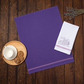 """Набор полотенец столовых """"Кантри"""" 45х60 см., 2 шт. фиолетовый, 250 гр/м2 , 100 % хлопок"""
