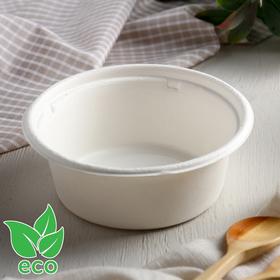 Тарелка из сахарного тростника 350 мл ECO, 13 см, 6 шт/уп Ош