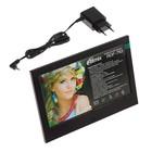 """Фоторамка Ritmix RDF-710, 7"""", 800х480, USB/SD/SDHC/MMC, JPG, часы, календарь, черная"""