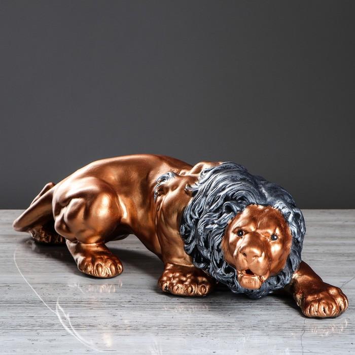"""Статуэтка """"Лев"""", цвет бронзовый, 16 см"""