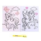 Раскраска с наклейками «Пони» - фото 105591238