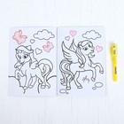Раскраска с наклейками «Пони» - фото 105591239
