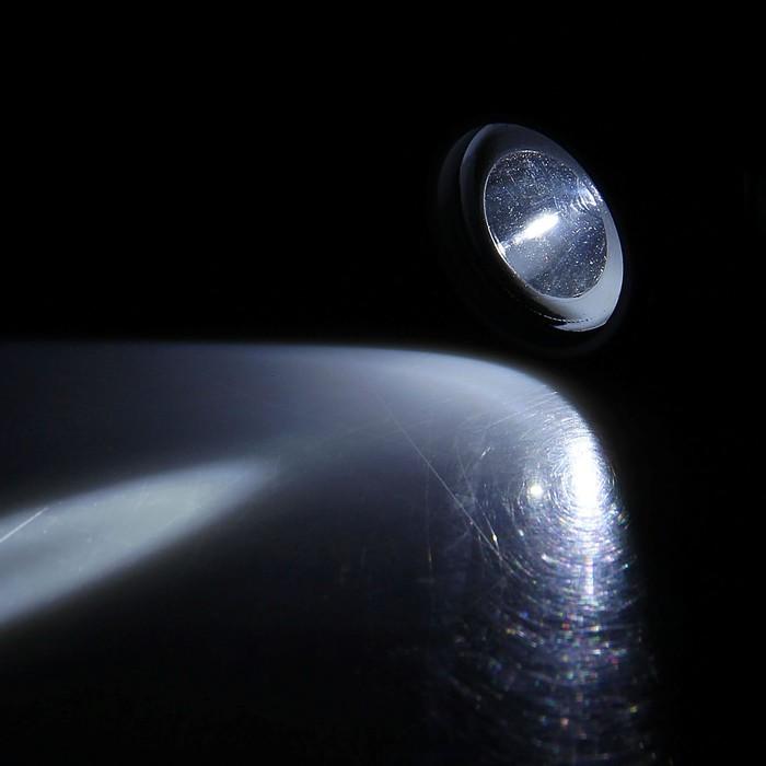 Фонарик налобный «Атака», 1 диод, чёрно-серебристый