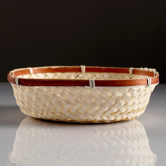 Сухарница «Плетёнка», 20×20×4 см, бамбук