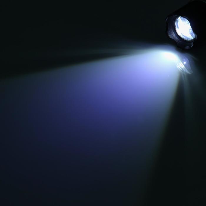 """Фонарик светодиодный """"Эксперт"""" 1 диод, рассеиватель, зарядка от прикуривателя, 3 батарейки ААА"""