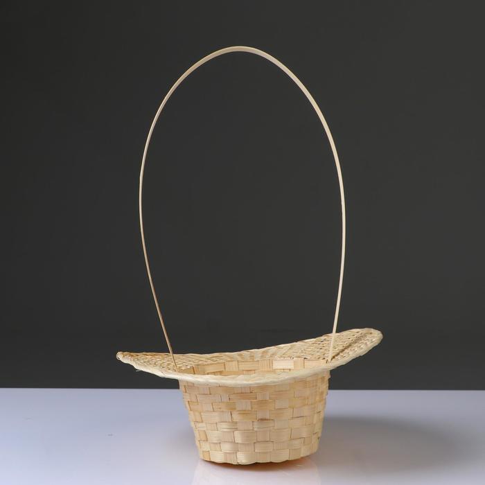 Корзина «Шляпка»,  30×9/45 см, бамбук