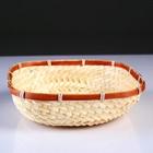 Сухарница «Плетёнка», 24×24×4 см, бамбук