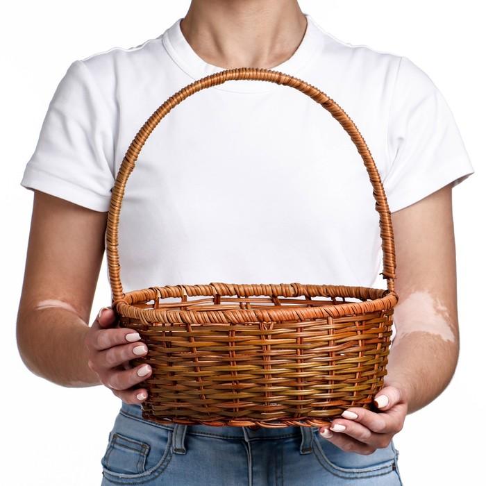 Корзина, 27×21×10/31 см, лоза, кукуруза