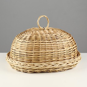 Bread bin with removable lid, 30×40×18 cm, hand-weaving, willow
