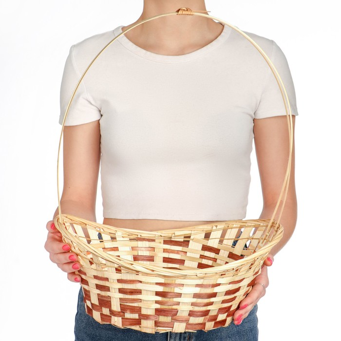Корзина «Ладья», 32×23×10 см, бамбук