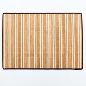 Салфетка плетёная, 60×90 см, бамбук, ткань