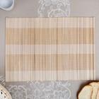 Салфетка плетёная, зелёная, 30×40 см, бамбук