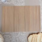 Салфетка плетёная, бежевая, 35×50 см, бамбук