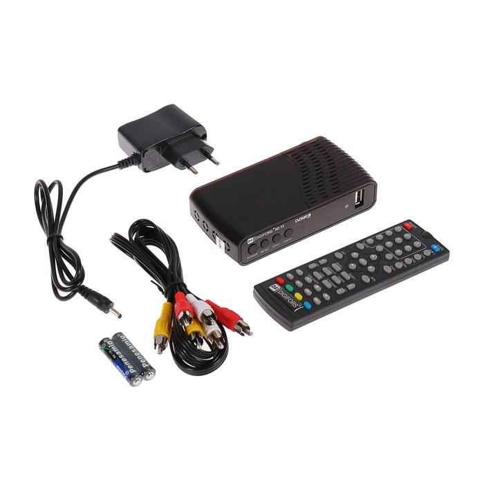 Приставка для цифрового ТВ Digifors HD 73, FullHD, DVB-T2/DVB-C, дисплей, HDMI, RCA, USB