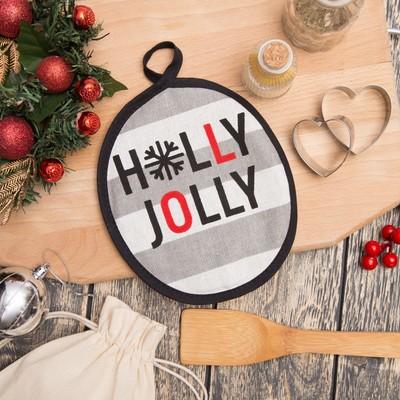 "Potholder ""Holly Jolly"" 17х17см,100% cotton 160 g/m2 matting"