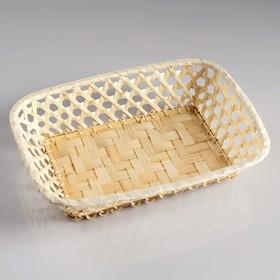 Сухарница «Плетёнка», 17×23×5 см, бамбук - фото 1961239