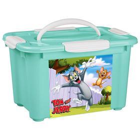 Коробка универсальная с ручкой «Том и Джерри» 5,5 л, цвет зелёный
