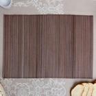 Салфетка плетёная, коричневая, 35×50 см, бамбук, ткань