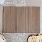 Салфетка плетёная, серая, 35×49 см, бамбук