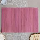 Салфетка плетёная, красно-розовая, 35×50 см, бамбук
