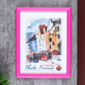 "Photo frame ""Pink fluorescence"" plastic 15x20 cm"