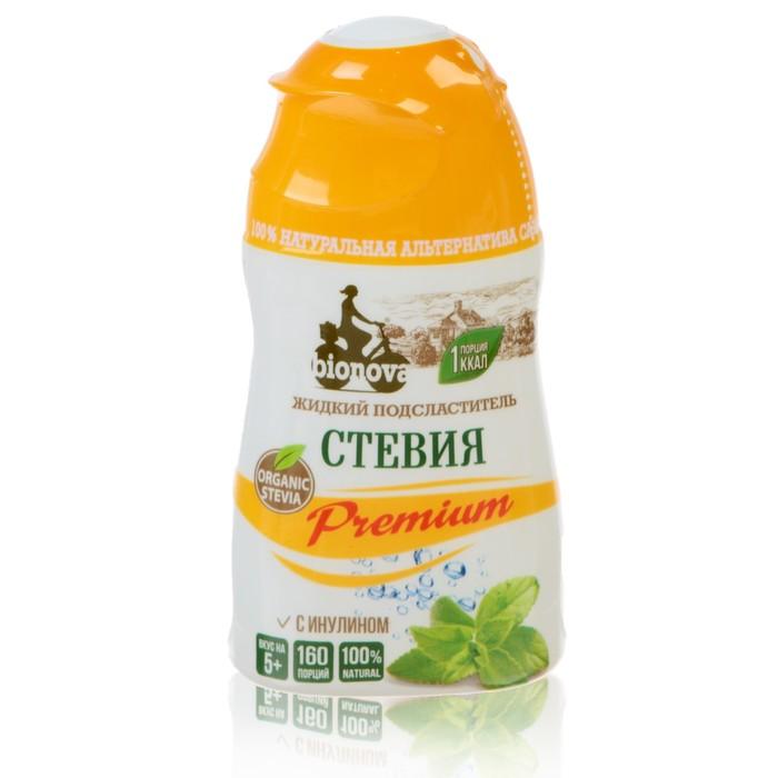 """Жидкий подсластитель """"Bionova"""" Стевия Premium 80 г - фото 16431"""
