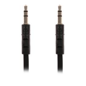 Кабель аудио AUX Ritmix RCC-140, Jack 3.5 мм(m)-Jack 3.5 мм(m), плоский, 1 м, черный Ош