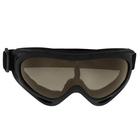 Очки для езды на мототехнике Torso, стекло с затемнением, черные