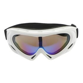 Очки для езды на мототехнике Torso, с доп. вентиляцией, стекло с затемнением, белые