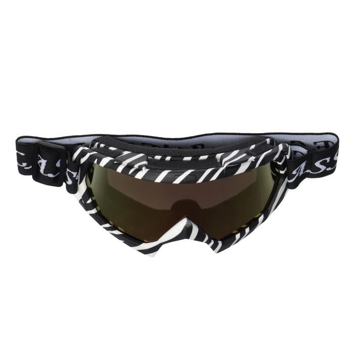 Маска кроссовая Torso, стекло хамелеон, черно-белые