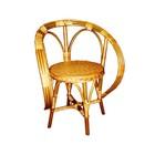 Кресло «Чебурашка», 38 × 38 × 85 см, натуральная лоза