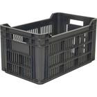 Ящик для фруктов, перфорированный 500х300х264 черный