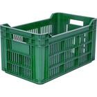 Ящик для фруктов, перфорированный 500х300х264 зеленый