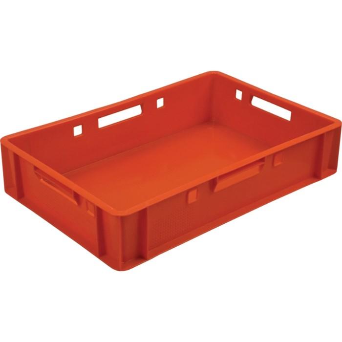 Ящик мясной Е1, сплошной, 600х400х120 красный, калиброванный 1,5 кг