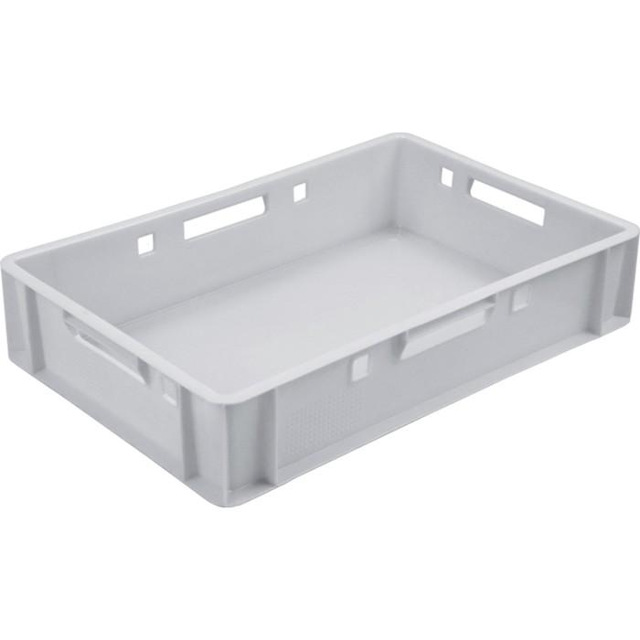 Ящик мясной Е1, сплошной, 600х400х120 белый морозостойкий, калиброванный 1,5 кг