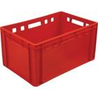 Ящик мясной Е3, сплошной, 600х400х300 красный калиброванный 2,5 кг