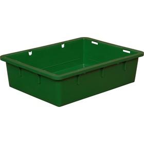 Ящик сырково-творожный (без крышки), конусный, сплошной 532х400х141 зеленый