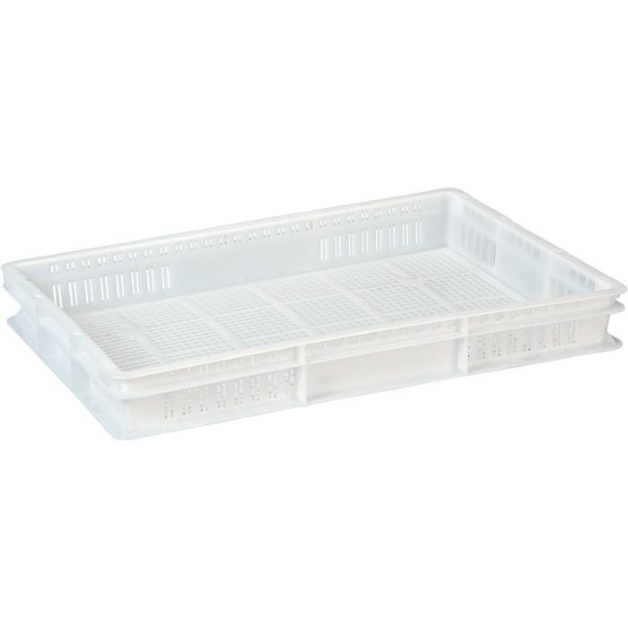 Ящик универсальный, перфорированный 600x400x75 белый морозостойкий