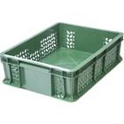 Ящик универсальный, перфорированный 400х300х120 зеленый