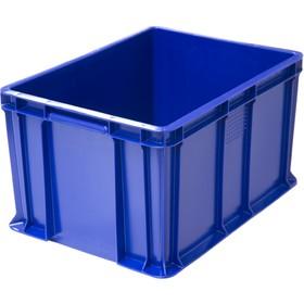 Ящик универсальный, сплошной 400х300х230 синий