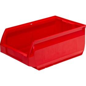 Лоток для склада Milano, сплошной 350х230х150 красный