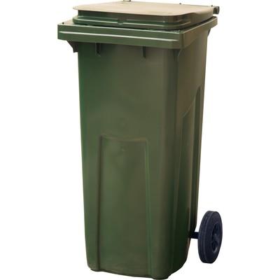Мусорный контейнер на 2-x колесах с крышкой 120 л зеленый