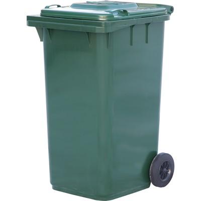 Мусорный контейнер на 2-x колесах с крышкой 240 л зеленый
