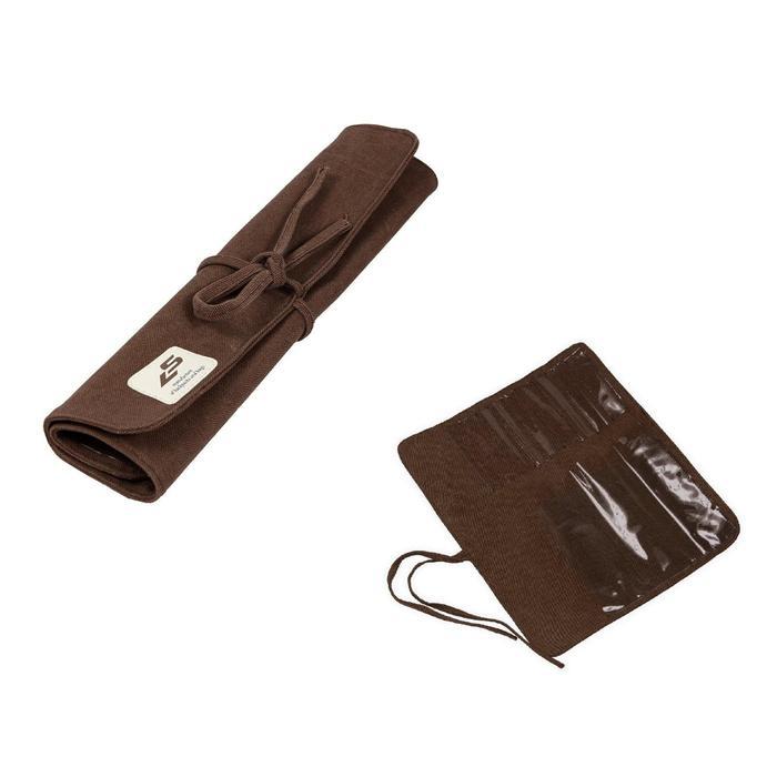 Пенал для кистей мягкий скатка 350x300 мм Luris, брезент, коричневый